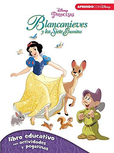 Blancanieves y los siete enanitos (Libro educativo Disney con actividades y pegatinas)