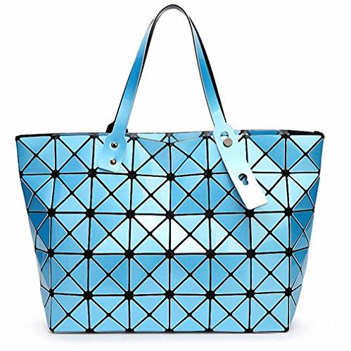 Ripiegamento del sacco a spalla Moda Borse Moda Donna Casual Tote maniglia superiore sacchetti classico al cioccolato Sky Blue