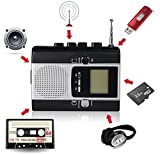from DIGITNOW! DIGITNOW! Portable Radio Cassette Recorder - Cassette Tape to Mp3 Converter & Radio to Mp3 Recorder with Voice Recording Feature,Used as a walkman. Model BM001