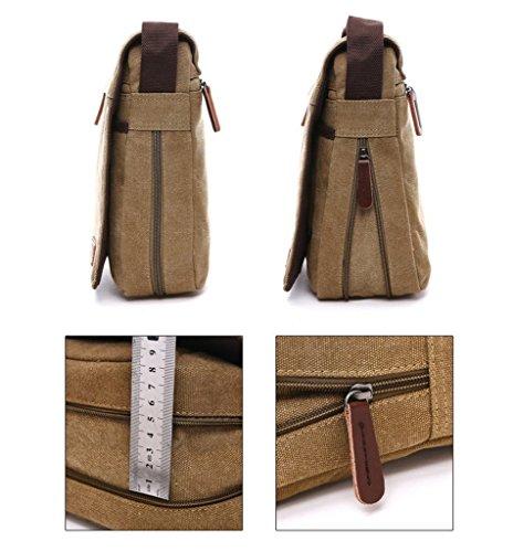 YFbear Umhängetasche, Laptop-Tasche, Computer-Tasche, aus Segeltuch, für Männer und Frauen, Herren kaffee