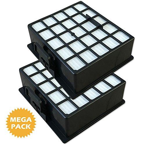 Staubbeutel24 Set 2 HEPA Filter geeignet Für Siemens SynchroPower Bag Bagless 2400W - VS06G2411/03, VS06G2483/03 (Bag Kohle Filter)