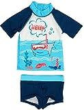 Petit Béguin Jungen Badehose Badeshorts Bade-Set UV Schutz 50+ Sharky Gr. 116/128 (6/8J)