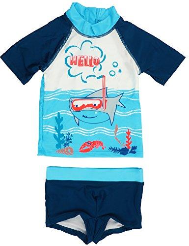 Petit Béguin - Jungen Badehose Badeshorts Bade-Set UV Schutz 50+ Sharky Gr. 92/98 (2/3J)