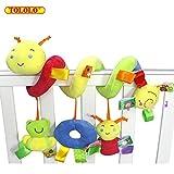 TOLOLO les activités de conception de bébé mignons animaux spirale lit & poussette jouet lit hochets pendaison bell - berceau musique jouets jouets s'enroule autour du lit ou une poussette ou siège voyage jouet pour de 0 à 36 mois