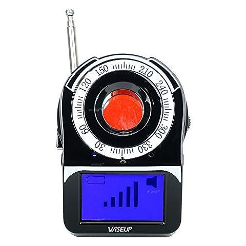WISEUP Wireless RF GSM Détetophone Coverte Stenopé Découvreur de Caméra Espion Anti-Espion Detecteur avec LCD Écran