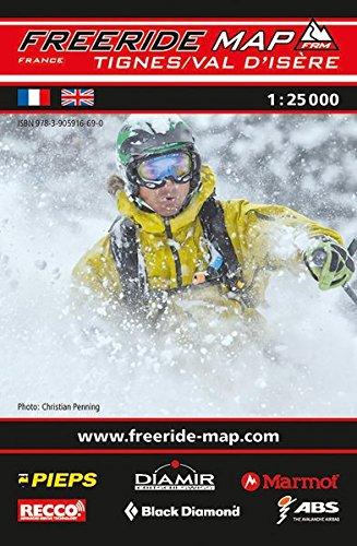 Freeride Map Tignes / Val d'Isère: Maßstab 1:25 000