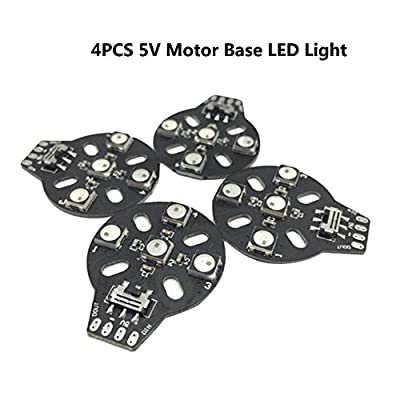 4PCS 4XWS2812B 5V Motor Base LED Light Lamp Compatible Naze32 F3 CC3D Flight Controller for FPV Racing RC Drone Quadcopter by LITEBEE