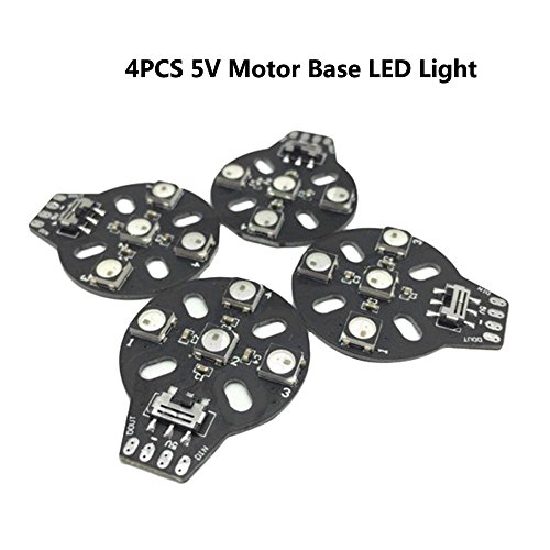 4 PCS 4XWS2812B 5V Motor Low LED Licht Lampe Kompatibel Naze32 F3 CC3D Multitude Controller für FPV Racing RC Drone Quadcopter by LITEBEE