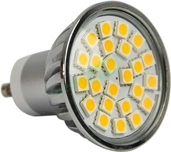 green lamp gu10 3 5 watt 3000k led energy saving bulb silver lighting. Black Bedroom Furniture Sets. Home Design Ideas
