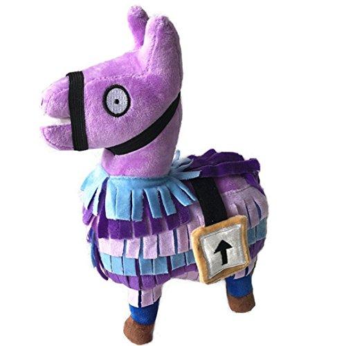 Peluche, Oyedens Plush Toy 2018 Hot For Fortnite Loot Llama Figura Bambola Morbida Peluche Animali Giocattoli (Viola 25cm)
