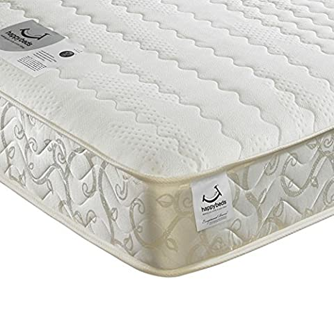 Happy Beds Membound Micro Quilted Bonnell Spring Memory Foam Mattress - Super King