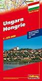 Ungarn Strassenkarte: 1:275 000 (Hallwag Strassenkarten)