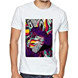 Casotec MultiColor Wolf Custom Printed Designer Polyester Sports Round Neck T-Shirt Amazon