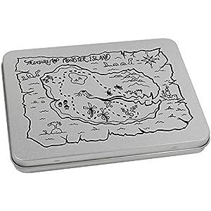 170mm x 130mm 'Mapa del Tesoro' Caja de Almacenamiento / Estaño de Metal (TT00006730)