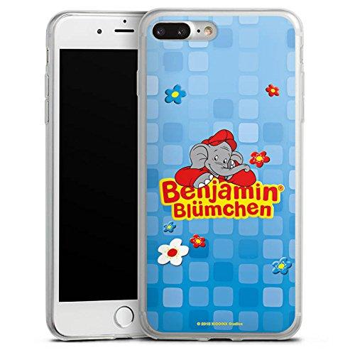 Apple iPhone 8 Slim Case Silikon Hülle Schutzhülle Benjamin Blümchen Fanartikel Merchandise Logo Silikon Slim Case transparent