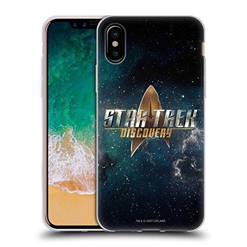 Ufficiale Star Trek Delta 2 Discovery Logo Cover Morbida In Gel Per Apple iPhone 6 / 6s Con Scudo