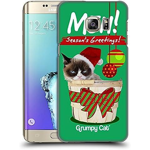 Ufficiale Grumpy Cat Saluti Natalizi Natale Cover Retro Rigida per Samsung Galaxy S6 edge+ / Plus - Saluto Edge Design