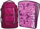 satch pack Purple Leaves 2er Set Rucksack & Heftebox Lila