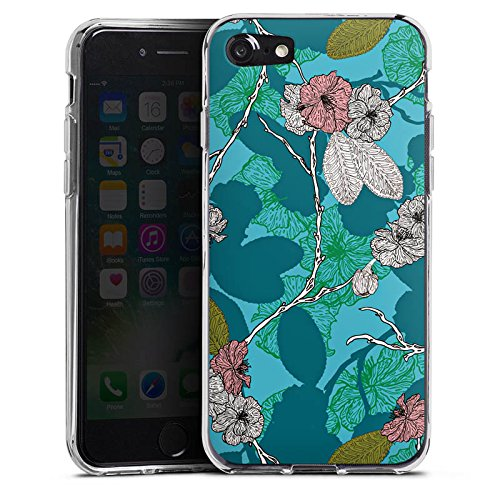 Apple iPhone X Silikon Hülle Case Schutzhülle Kirschblüten Blüten Muster Silikon Case transparent