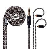 Câble MMCX détachable 4.4MM Yinyoo argent plaqué cuivre remplacement des écouteurs câble MMCX câble équilibré pour UE900 LZ a4 a5 Shure SE215 SE315 SE846 SE535 SE425 écouteurs (MMCX 4.4)