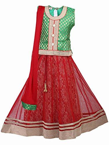 Ashwini Mädchen Kleid Lehenga Choli (12-13 Jahre) (Kinder Kleid Indian)
