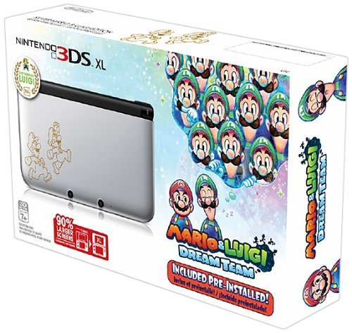 Nintendo 3DS XL, Silver - Mario & Luigi Dream team Limited Edition by Nintendo