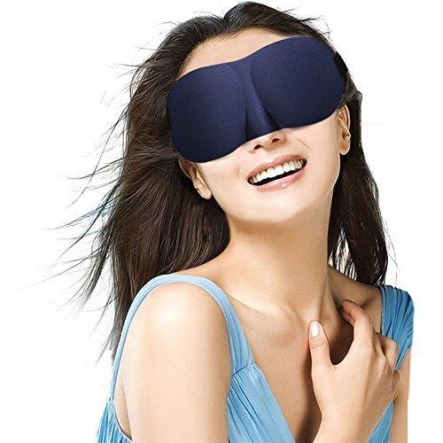 weddecor ULTRA WEICHE 3D konturierter Augen Maske mit glatt elastisch verstellbar Augenbinde Augenmaske bequem, leicht & atmungsaktiv Schlaf Augenmaske für Herren Damen Kinder (Atmungsaktive Decke Weiche)