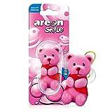 AREON Smile Lufterfrischer Auto Duft Bubble Gum Lustig Rosa Bär Autoduft Kaugummi Tier Anhänger Zum Aufhängen Hängend Spiegel Figur Wohnung Süß 3D (Pack x 1)