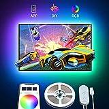 TV Hintergrundbeleuchtung mit APP, Govee 2M USB LED Fernseher Beleuchtung Kit, TV Beleuchtung RGB LED Streifen für 45-55 Zoll HDTV, PC Bildschirm, Aktualisiert