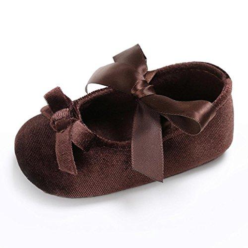 Schuhe Baby 1paar Braun Soft Prewalker Mädchen rutsch Sole Anti Prinzessin Igemy Kleinkind Krippe Flower 7UTCwqw