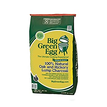 Big Green Egg 390011 Holzkohle Aus 100 Natrlichen Eiche Und Hickory Stcken Grn