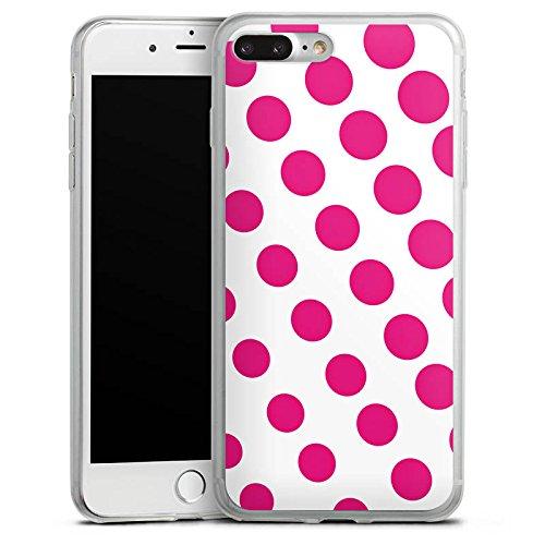 Apple iPhone X Slim Case Silikon Hülle Schutzhülle Punkte Pink Weiß Silikon Slim Case transparent