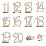 11-20 Wooden Table Numbers Set with Base...
