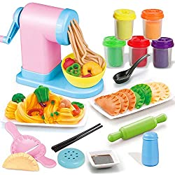 MKYVERAY Pasta Machine pour Enfants Maker,Jouet plasticine Nouilles mouliste Machine à pâtes Manuel