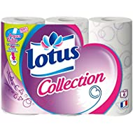 LOTUS Collection Set de 6 Rouleaux de Papier Toilette - Lot de 2