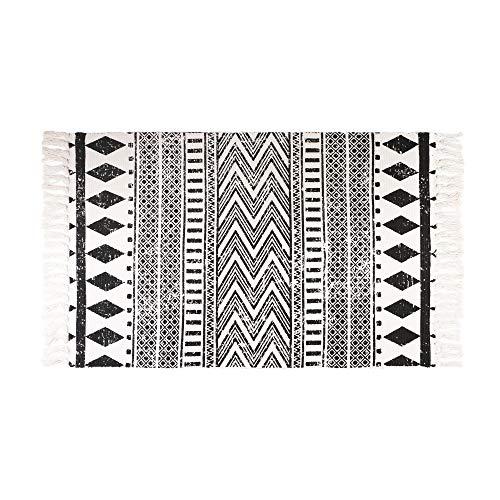 Furnily alfombras de algodón Lavables a máquina con Borla para Inter