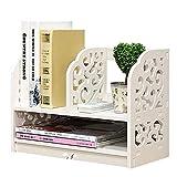 LLYU Desktop-Regal Aufbewahrungsbox Kosmetik Anzeigen Bücherregal Küche Büro Schlafzimmer Badezimmer