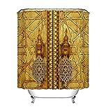 LB Marruecos,decoración de Puerta de Oro_Cortina de Ducha,180x180 CM
