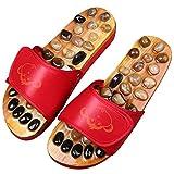 LIU UK-Foot massager Masaje De Pies Zapatillas Zapato Masaje De Piedras Naturales Cuidado De Los Pies Sandalias De Reflexología con Piedras Zapatillas Promover La Circulación De La Sangre