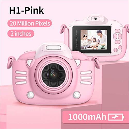 Enfants Appareil Photo numérique 30MP 2,4 Pouces IPS Écran 1080P HD Vidéo Selfie Mini SLR Jouet Caméra pour Enfants pour Cadeaux de Noël Minibear (H1-Pink)