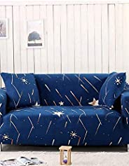 Star Design 4-Seater Sofa Cover (Blue, 230 x 300cm)
