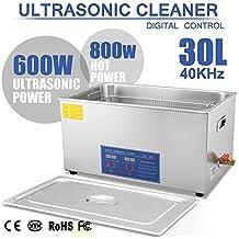 Autovictoria Limpiador Ultrasónico Profesional 30 Litros Calentador con Patalla Digital para limpiar Piezas Metálicos Joyas/