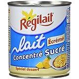 Régilait Lait Concentré Sucré Écrémé Boîte 397 g - Lot de 6