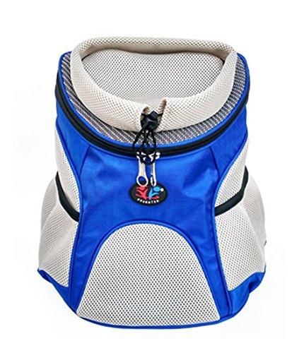 Kleine mittlere Hund Katze Tragetasche Rucksack Tier Reise Tasche Portable Handtasche für Outdoor Jogging Wandern Walking , blue , m (Leder-walking-mantel)