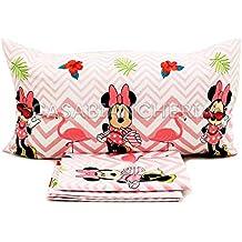 68dd08e362 G & C Enterprise Completo Lenzuola Disney Minnie Flamingo Letto Singolo