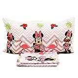 G & C Enterprise Completo Lenzuola Disney Minnie Flamingo Letto Singolo