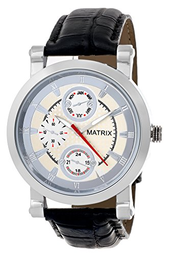 MATRIX Chronograph Look Analog Silver Dial Men's Watch-WCH-MN-CH-SL  available at amazon for Rs.299
