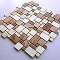 Marmor Mosaik Fliesen Römischer Verband Toscana von Mosafil - TapetenShop