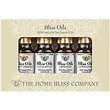 Aromatherapie, ätherische Öle 100 % naturrein Top 4 Geschenkset - Bliss Öle enthalten Eukalyptus, Lavendel, süße Orange & Lemongras (Zitronengras) Öle und kommen mit kostenlosem E-Book 'Eine praktische Anleitung zu ätherischen Ölen' von The Home Bliss Company