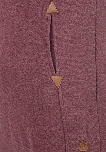DESIRES Vicky Hood-Long Damen Kapuzenpullover Lang Hoodie Sweatshirt Sweat-Kleid mit Kapuze und optionalem Teddy-Futter aus hochwertiger Baumwollmischung Wine Red Melange (8985)